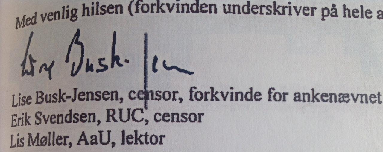 Underskriftforfalskning B